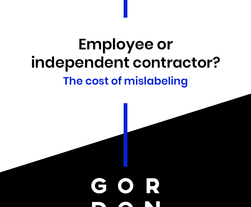 Employee or independent contractor graphic